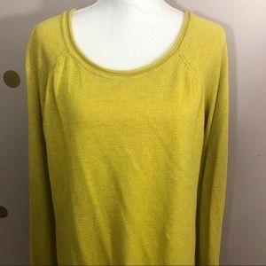 H&M Oversized Scoop Neck Mustard Sweater, Large